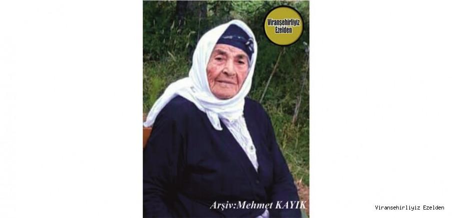 Hemşehrimiz Mersin'de 21 Şubat 2021 Günü Vefat etmiş, Değerli Annelerimizden olan, Merhume Hacı Gule Menge