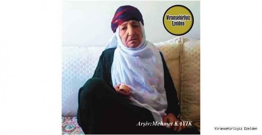 Hemşehrimiz Viranşehir'de 10 Ekim 2020 Günü Vefat etmiş, Değerli Annelerimizden olan, Merhume Hazal Zencir
