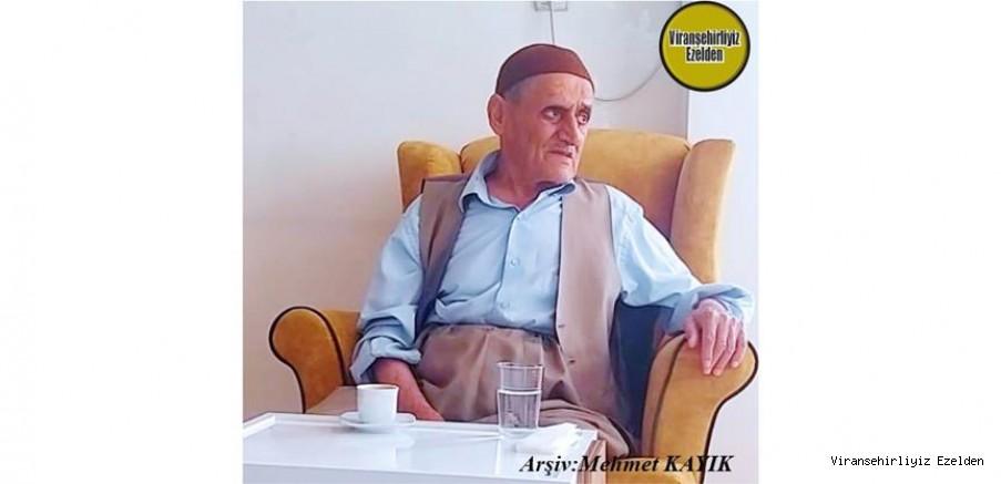 Viranşehir Ceylanpınar Caddesi Üzerinde Yıllarca Esnaflık yapmış ve 21 Eylül 2020 Günü Vefat etmiş, Merhum Hacı Ali Kaya